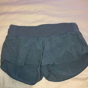 Light Blue Lululemon Shorts